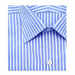 Impressive Blue and    White striped Arrow half Shirt