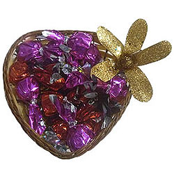Expressing Love with Assorted Chocolates in Heart Shaped Pack