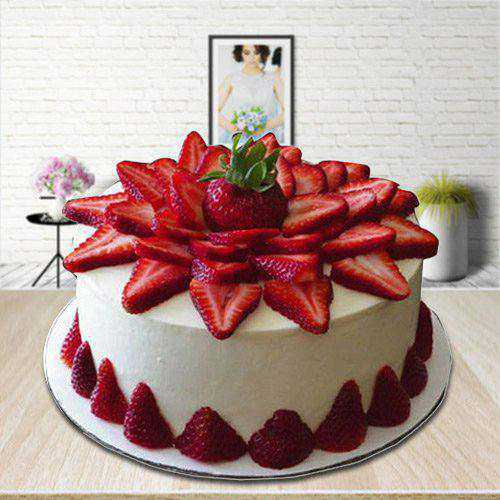Ambrosial 2 Kg Strawberry Cake