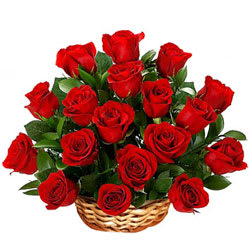 Royal Enchantment Red Roses Arrangement in a Basket
