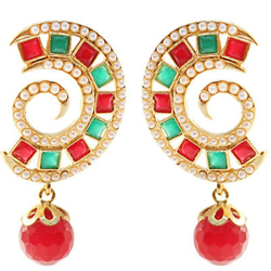Exclusive Big Earring Set with Pearl Design