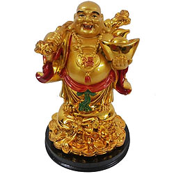 Extravagant Chinese Laughing Buddha with Traditional Look