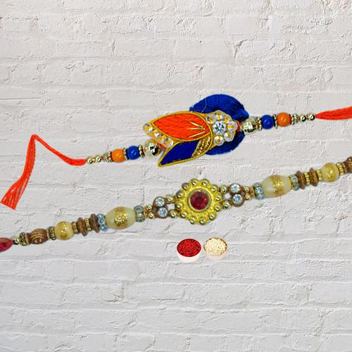 Delicate Raksha Bandhan Rakhi for Brother with Blessings