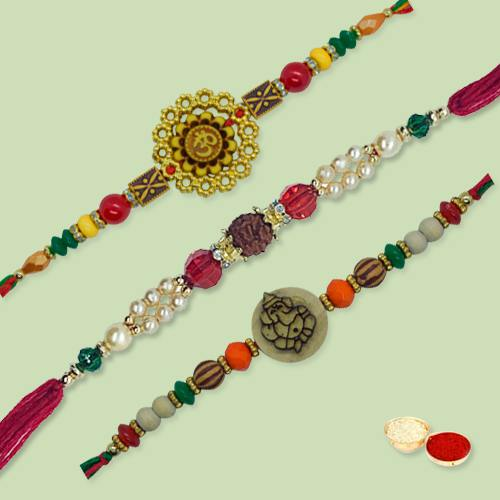 Ethnic Rakhi Thread with Love