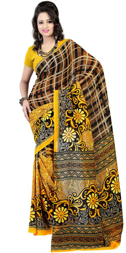 Mesmerizing Faux Georgette Printed Saree