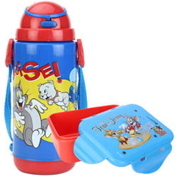 Attractive Kids Delight Tom and Jerry Tiffin Set