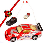 Exciting Kids Delight Remote Control Toy Car with Rakhi Roli Tilak Chawal