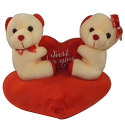 Outstanding Couple Teddy with a Heart as a Sign of Your Indulgence