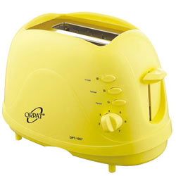 Yellow Orpat OPT-1057 Pop Up Toaster