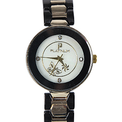A Fabulous Collection of Womens Black & Gold Color Watch decked up with American Diamonds