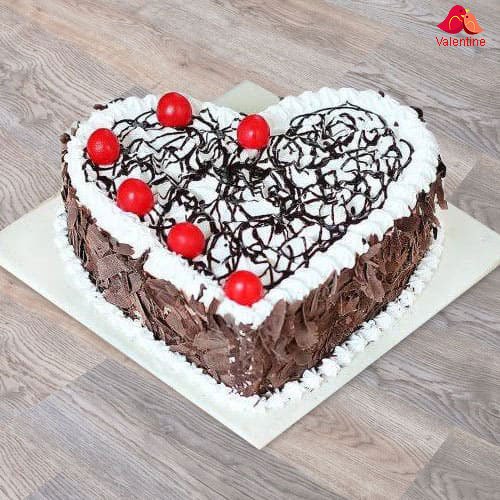 Heart-Shape Black Forest Cake