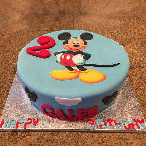 Irresistible Mickey Mouse Blue Cake for Kids