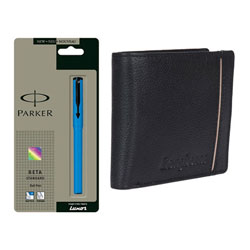 Gift of Parker Pen and Longhorns Leather Wallet