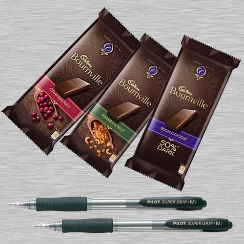 Delicious Cadbury Bournville Chocolate in 2pcs Ball Point Pen