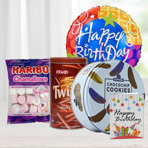 Delicious Cookies, Wafers N Marshmellos Combo for Birthday