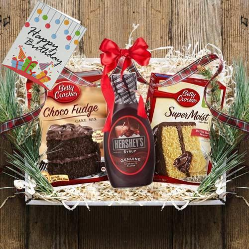 Delectable Chocolate Cake Gift Hamper