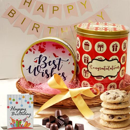 Delectable Cookies N Chocos Combo for Birthday