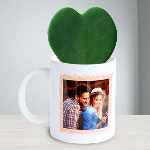 Amazing Hoya Heart Plant in Personalized Coffee Mug