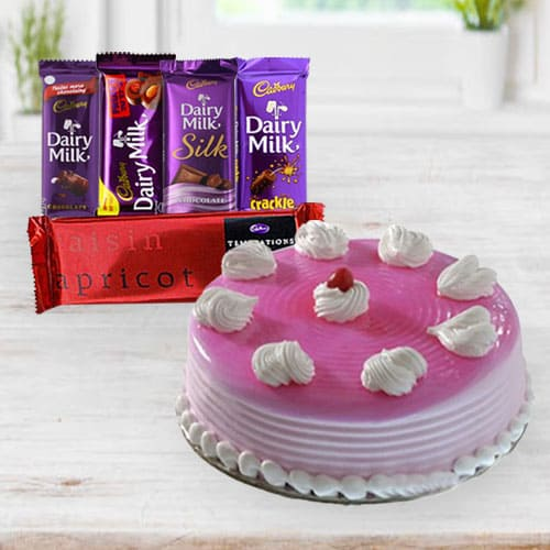 Classic Cake N Chocolates for Birthday