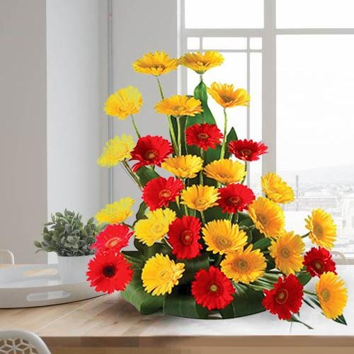 Beautiful 30 Assorted Gerberas Arrangement