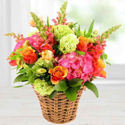 Precious Blooming Happiness Mix Arrangement of Fresh Flowers