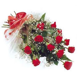 Aromatic Seasons Greetings 12 Red Roses Bouquet