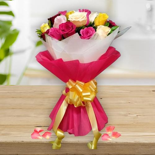 Fascinating Mixed Roses Bouquet