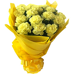 Lovely Bouquet of Yellow Carnations