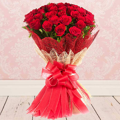 Gorgeous Red Roses Bouquet