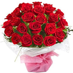 Pleasant Bouquet of Red Roses