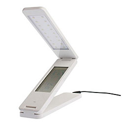 Exclusive LED Folding Lamp With Alarm Clock and Calendar