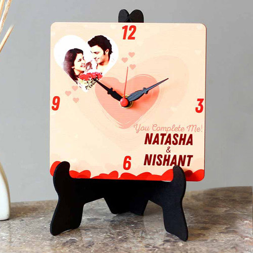 Astonishing Personalized Photo Square Table Clock