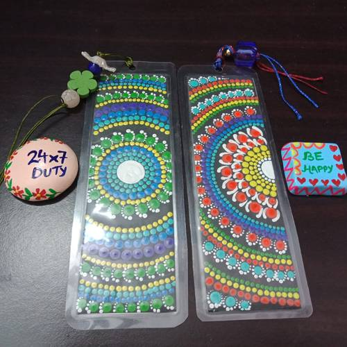 Attractive Dot Mandala Art Bookmarker n Fridge Magnets