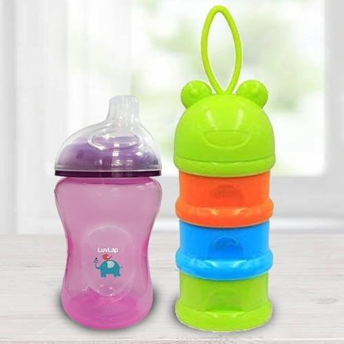 Wonderful LuvLap Jumbo Sky Sipper N 3 Layer Container<br>