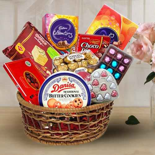 Scrumptious Chocolates Treat Gift Basket