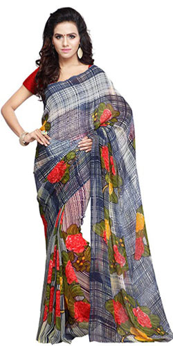 Elegant Georgette Saree in Floral Prints