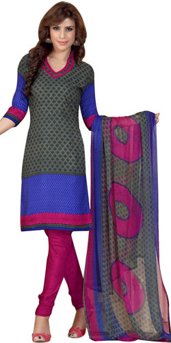 Fabulous Crepe and Chiffon Printed Salwar Suit of Siya Brand