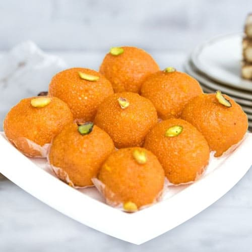Delectable Motichur Ladoo from Haldirams