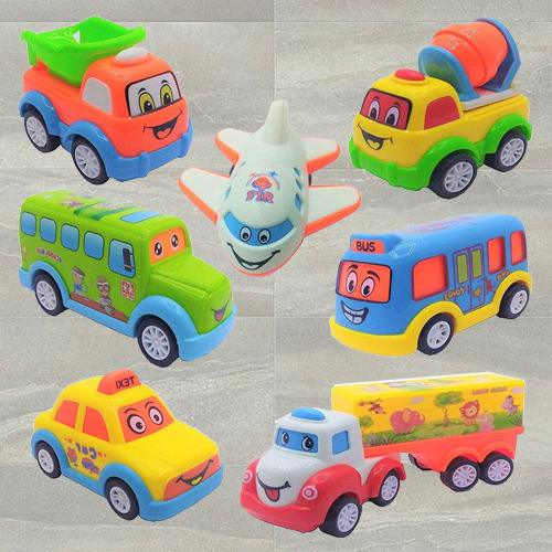Exclusive Push N Go Crawling Toy Car Set for Kids