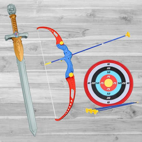 Marvelous Bow and Arrow Archery Set with Bahubali Toy Sword