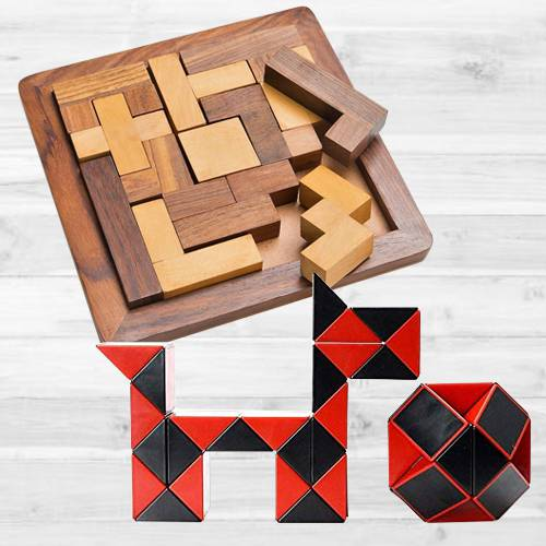 Wonderful Wooden Jigsaw Puzzle with Cubelelo ShengShou Snake Cube