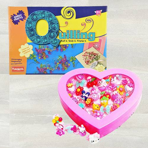 Exclusive Funskool Quilling Art with Kids Fancy Cartoon Rings