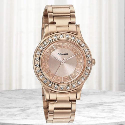Exclusive Sonata Blush It Up Analog Womens Watch