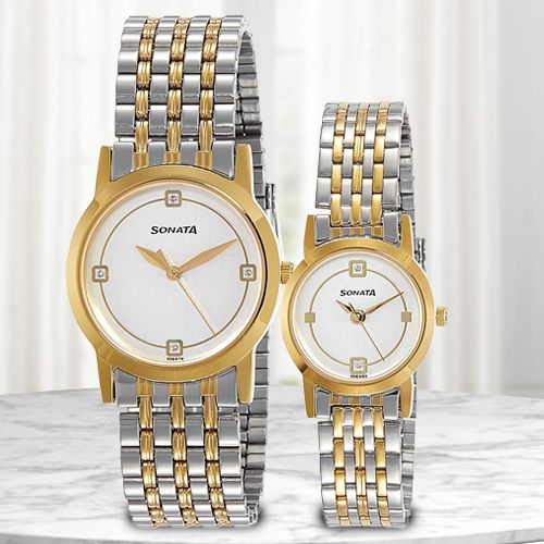 Marvelous Sonata Analog Pair Watch